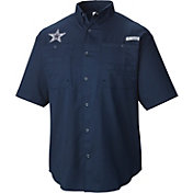 Columbia Men's Dallas Cowboys Tamiami Navy Button Up Shirt