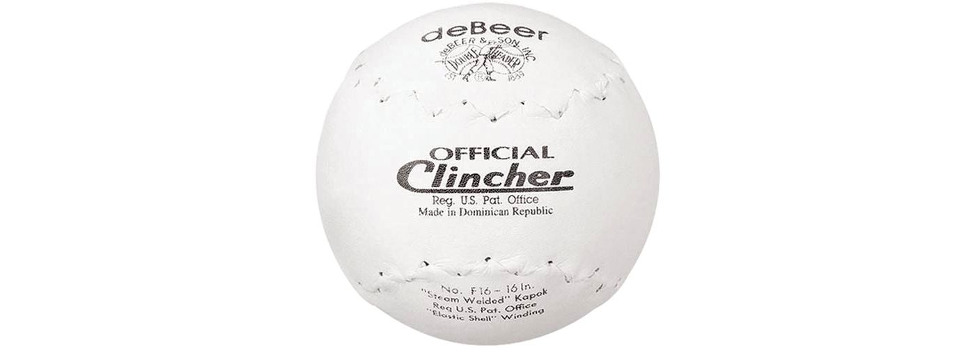 """deBeer 16"""" Clincher Slow Pitch Softball"""