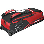 DeMarini Momentum Wheeled Baseball Bag in Scarlet Red