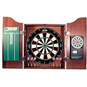 DMI Sports Deluxe E-Bristle Dartboard Cabinet Set