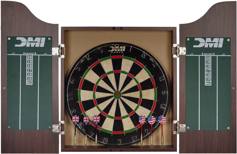 Genial DMI Sports Deluxe Bristle Dartboard Cabinet Set 1