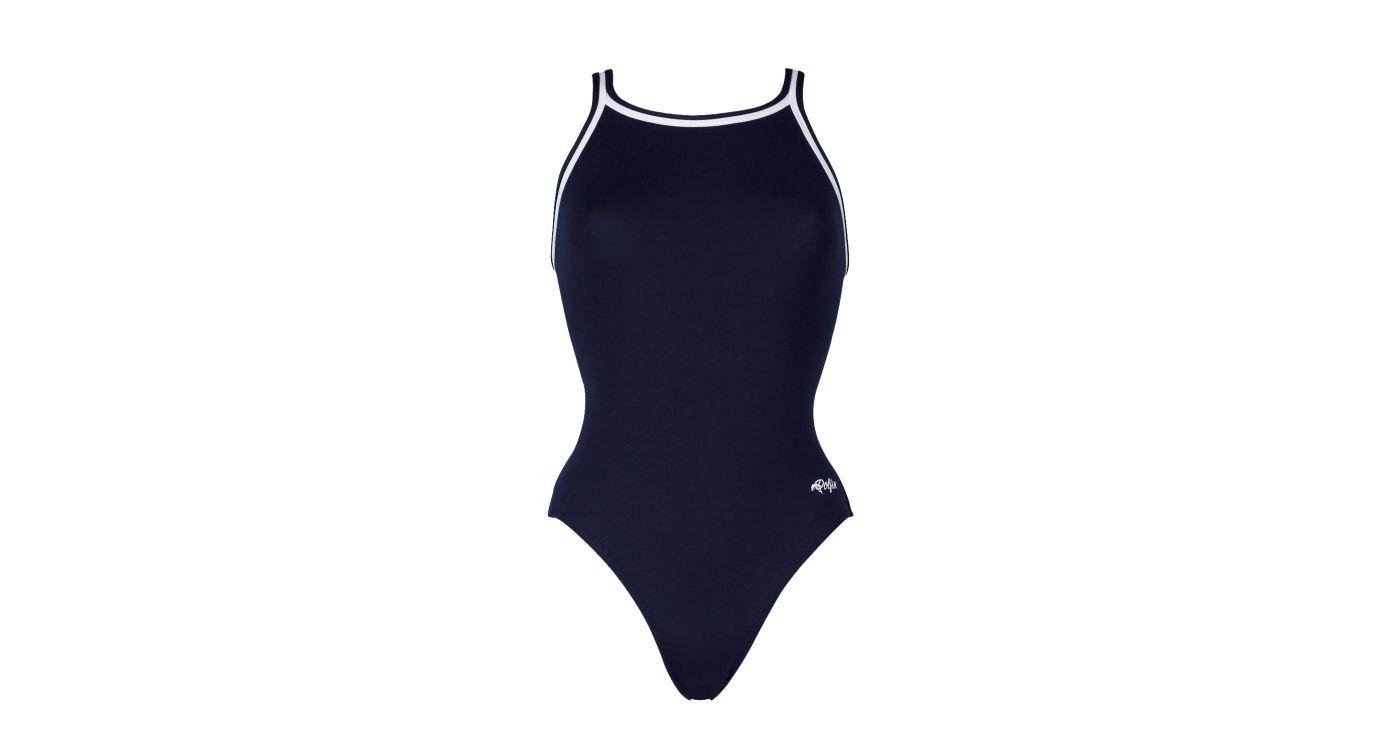 Dolfin Girls' Solid DBX Back Swimsuit