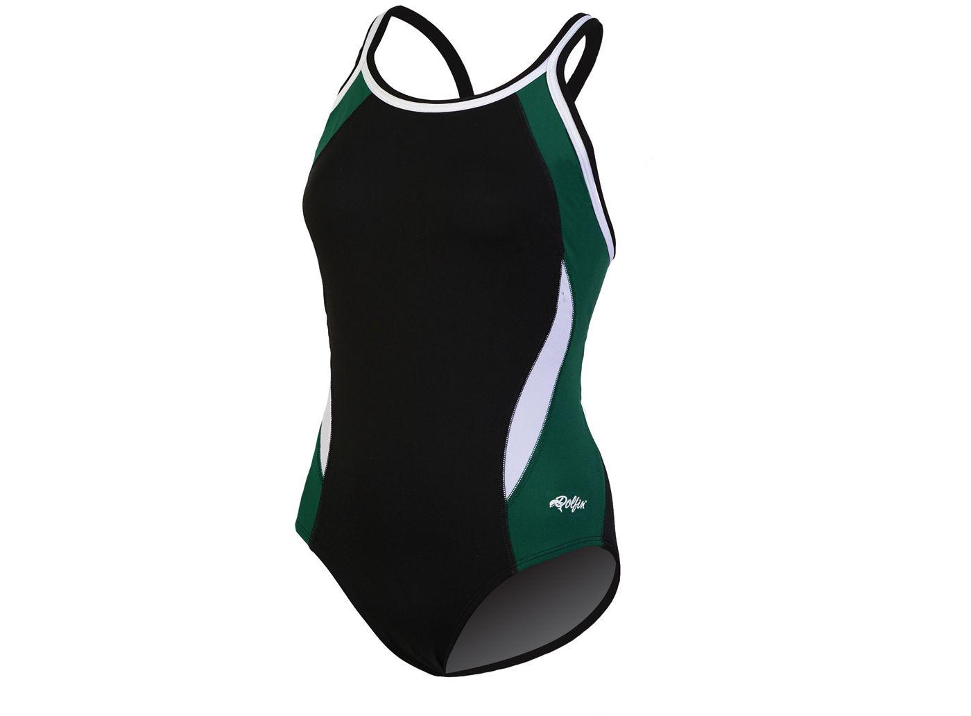 Dolfin Women's Chloroban Color Block DBX Back Swimsuit