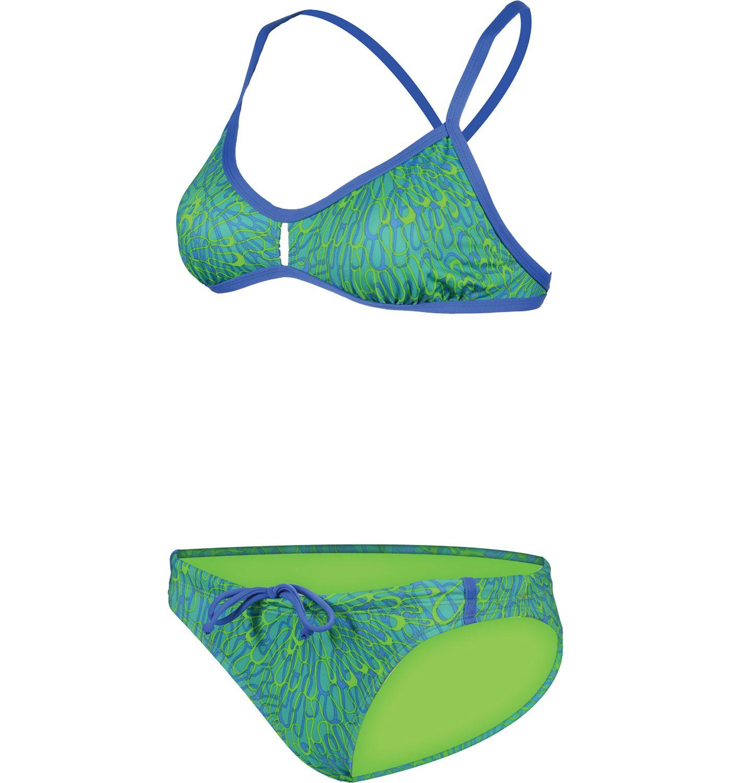 Dolfin Bellas Women's Carnivale Green 2 Piece Swimsuit