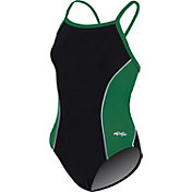 Dolfin Women's Team Panel V-2 Back Swimsuit
