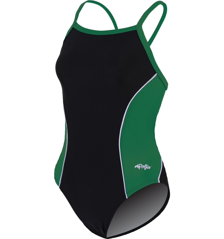 Dolfin Women's Team Panel V-2 Back Swimsuit