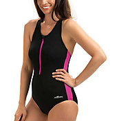 Dolfin Women's Zip-Front Racerback Swimsuit