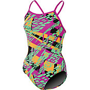 Dolfin Women's Zephyr Print V Back Swimsuit