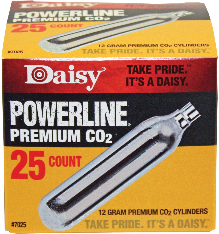 Daisy PowerLine Premium CO2 Cylinder - 25 Pack
