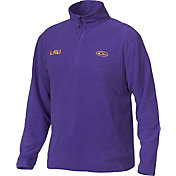 Drake Waterfowl Men's LSU Camp Fleece Quarter Zip Pullover