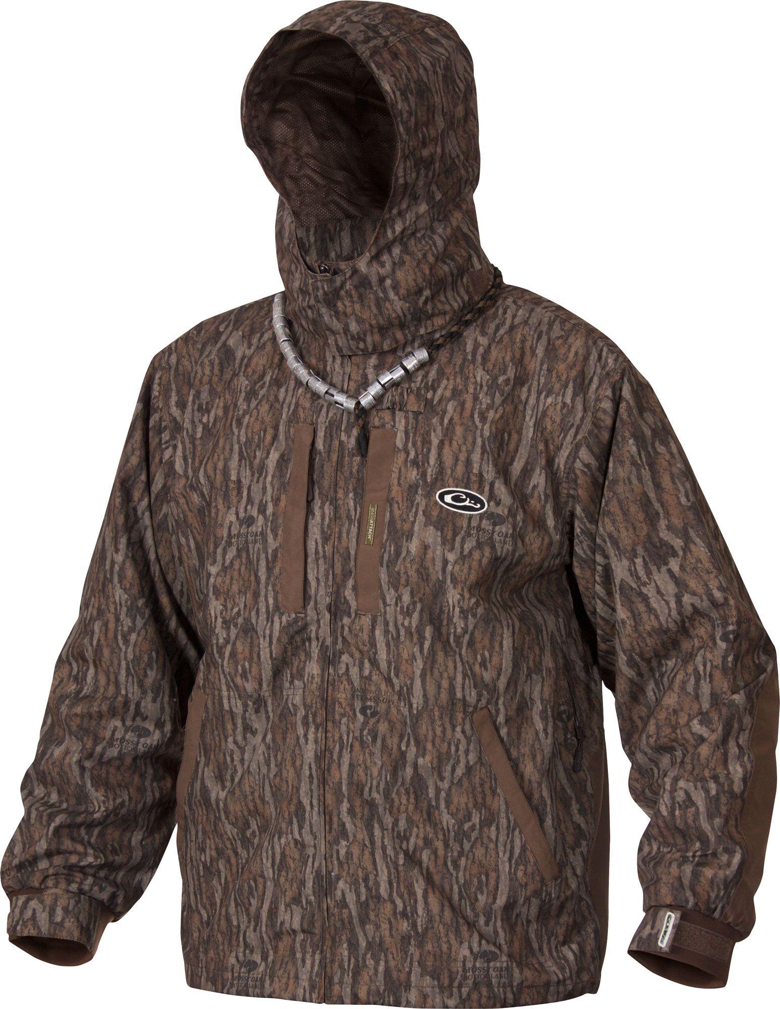 Drake Waterfowl EST Heat-Escape Full Zip Jacket, Men's, XL, Brown