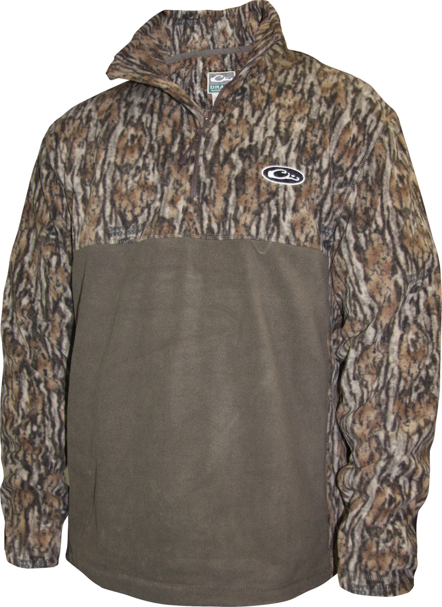 Drake Waterfowl Men's MST 2-Tone Camo Camp Fleece Pullover, Size: XXXL, Brown thumbnail