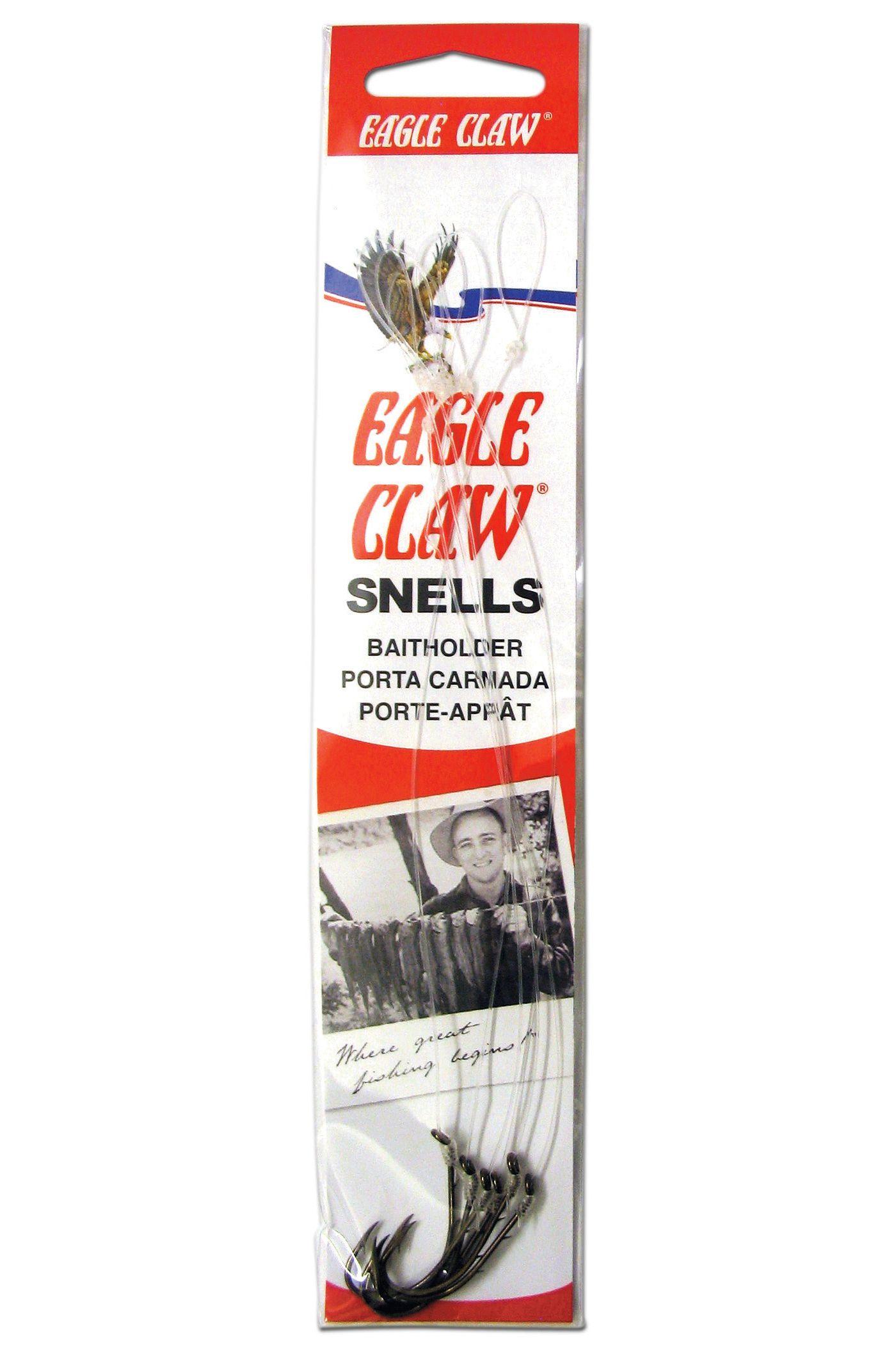 Eagle Claw Baitholder Snelled Hook