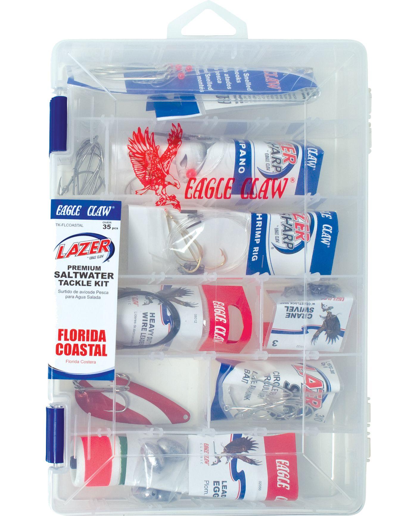 Eagle Claw Lazer Sharp Saltwater Florida Coastal Fishing Kit