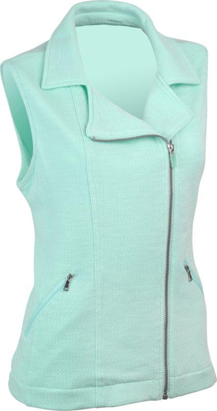 EP Pro Women's French Terry Asymmetric Moto Style Vest