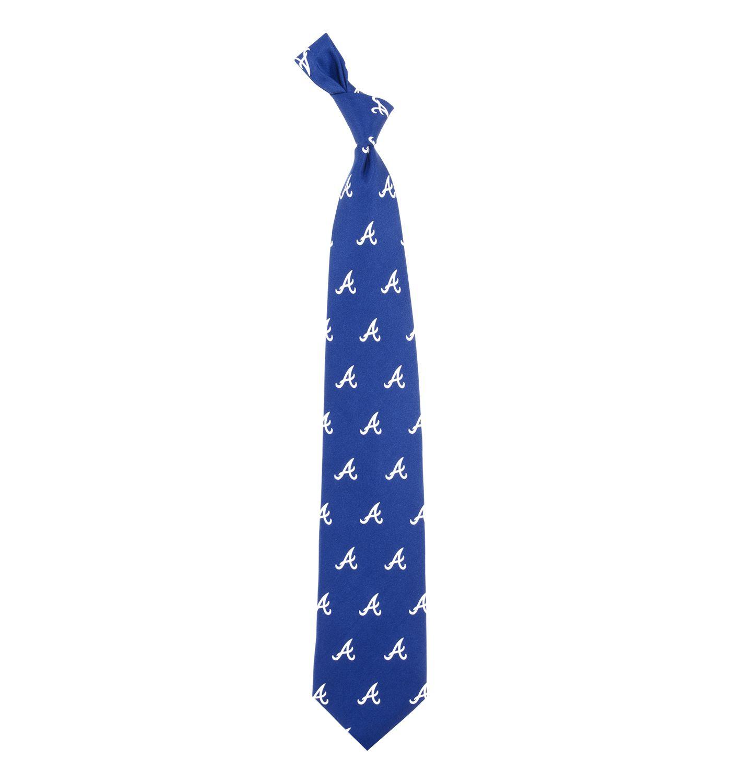 Eagles Wings Atlanta Braves Print Silk Necktie