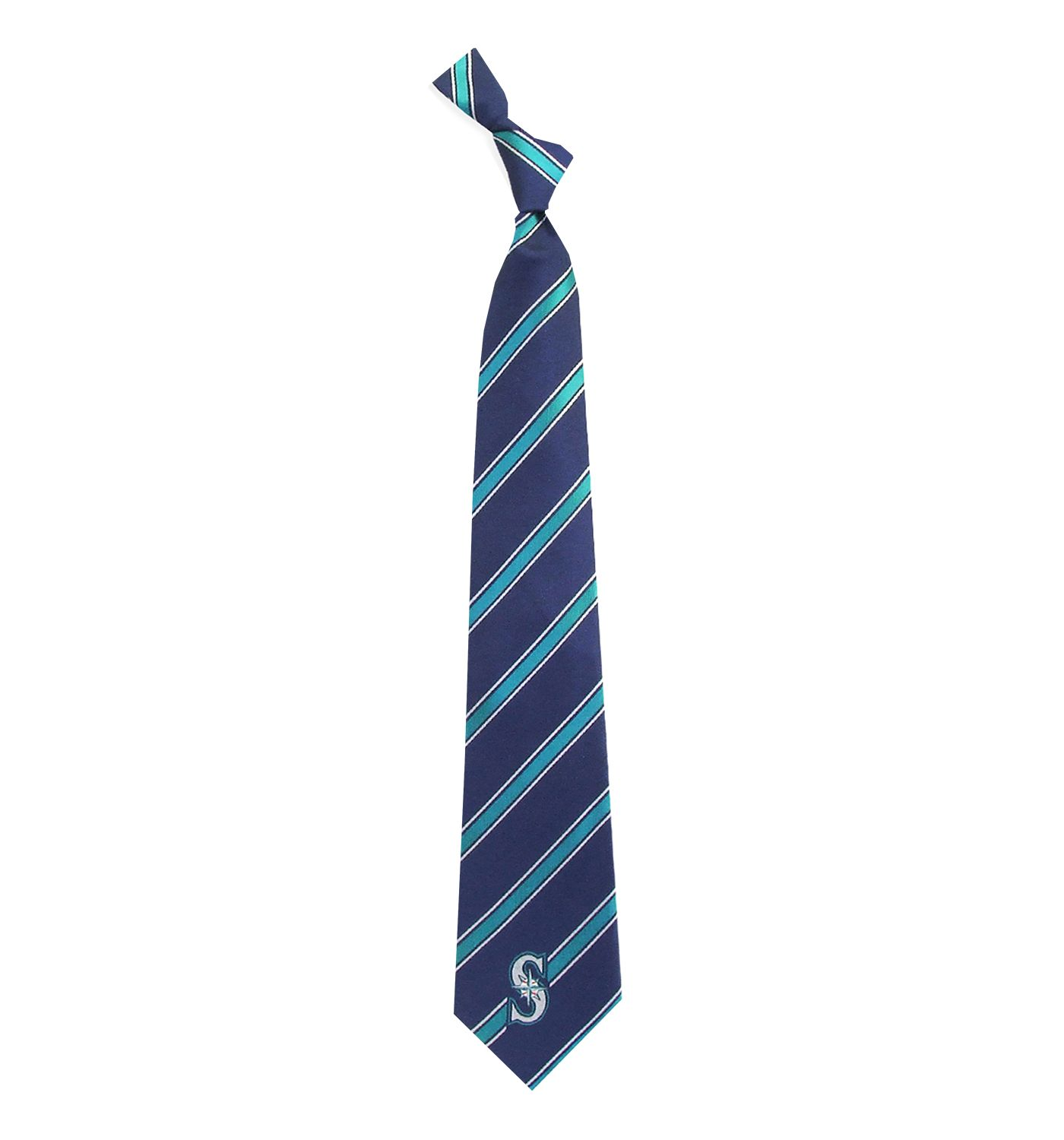 Eagles Wings Seattle Mariners Striped Polyester Necktie