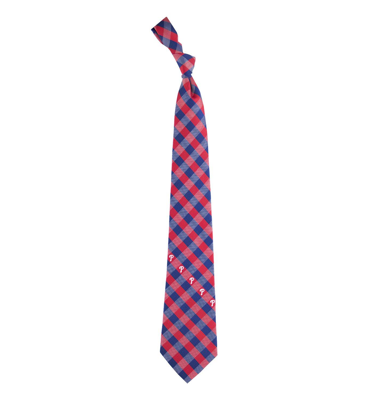 Eagles Wings Philadelphia Phillies Checkered Necktie