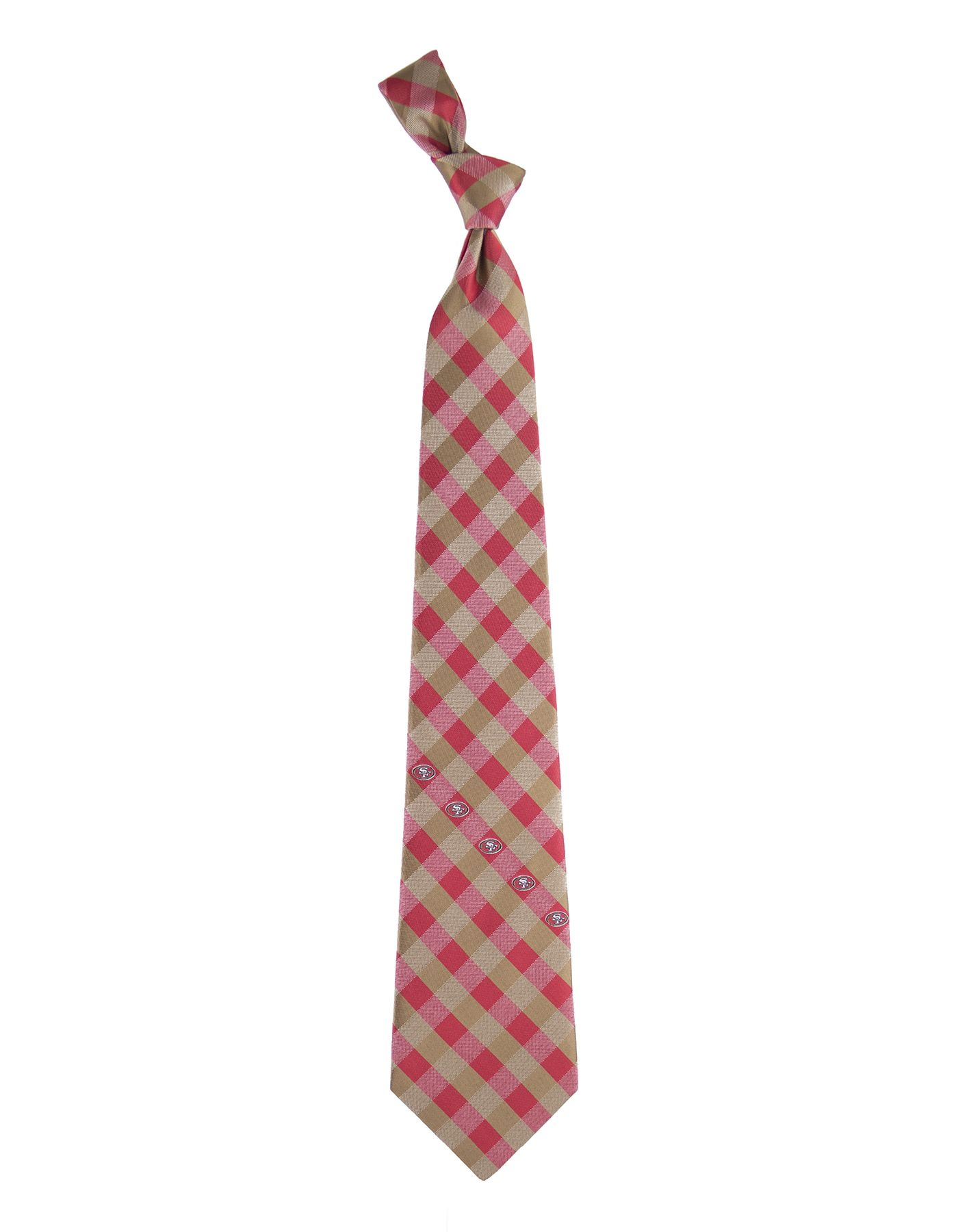 Eagles Wings San Francisco 49ers Checkered Necktie