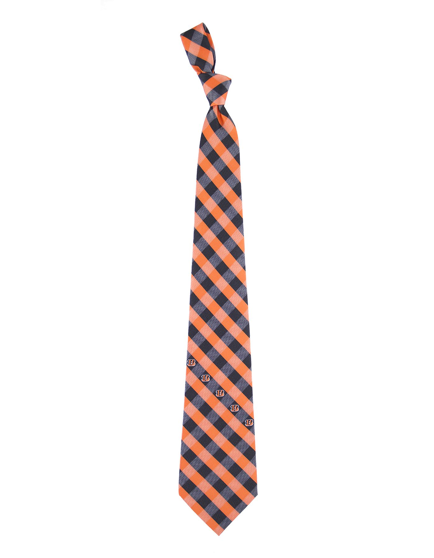 Eagles Wings Cincinnati Bengals Checkered Necktie