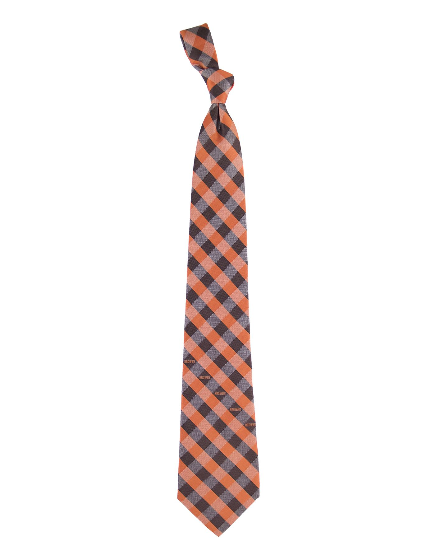 Eagles Wings Cleveland Browns Checkered Necktie