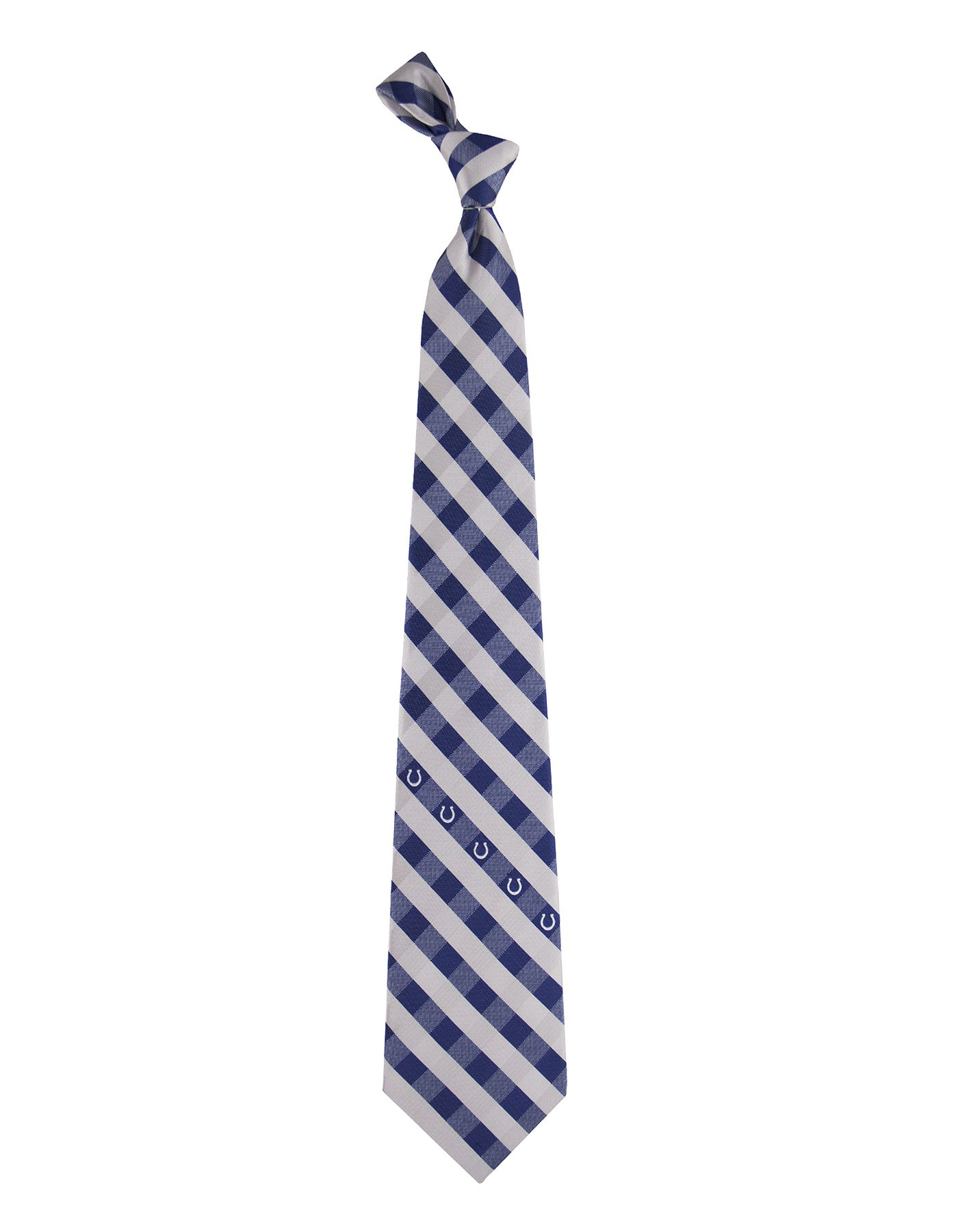 Eagles Wings Indianapolis Colts Checkered Necktie