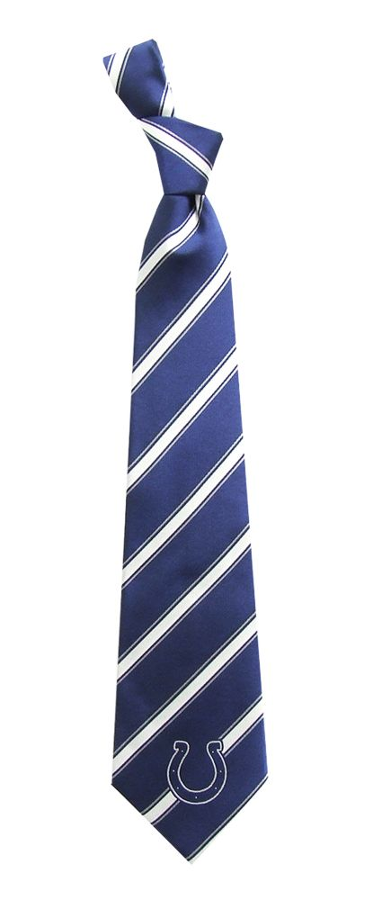 Eagles Wings Indianapolis Colts Striped Polyester Necktie