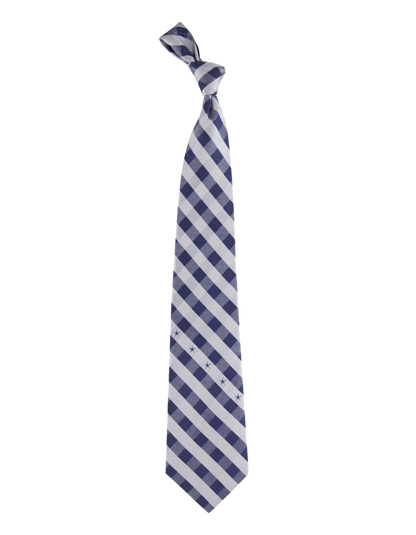 Eagles Wings Dallas Cowboys Checkered Necktie