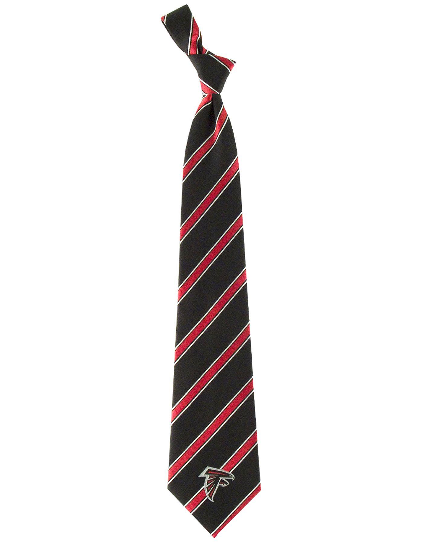 Eagles Wings Atlanta Falcons Striped Polyester Necktie