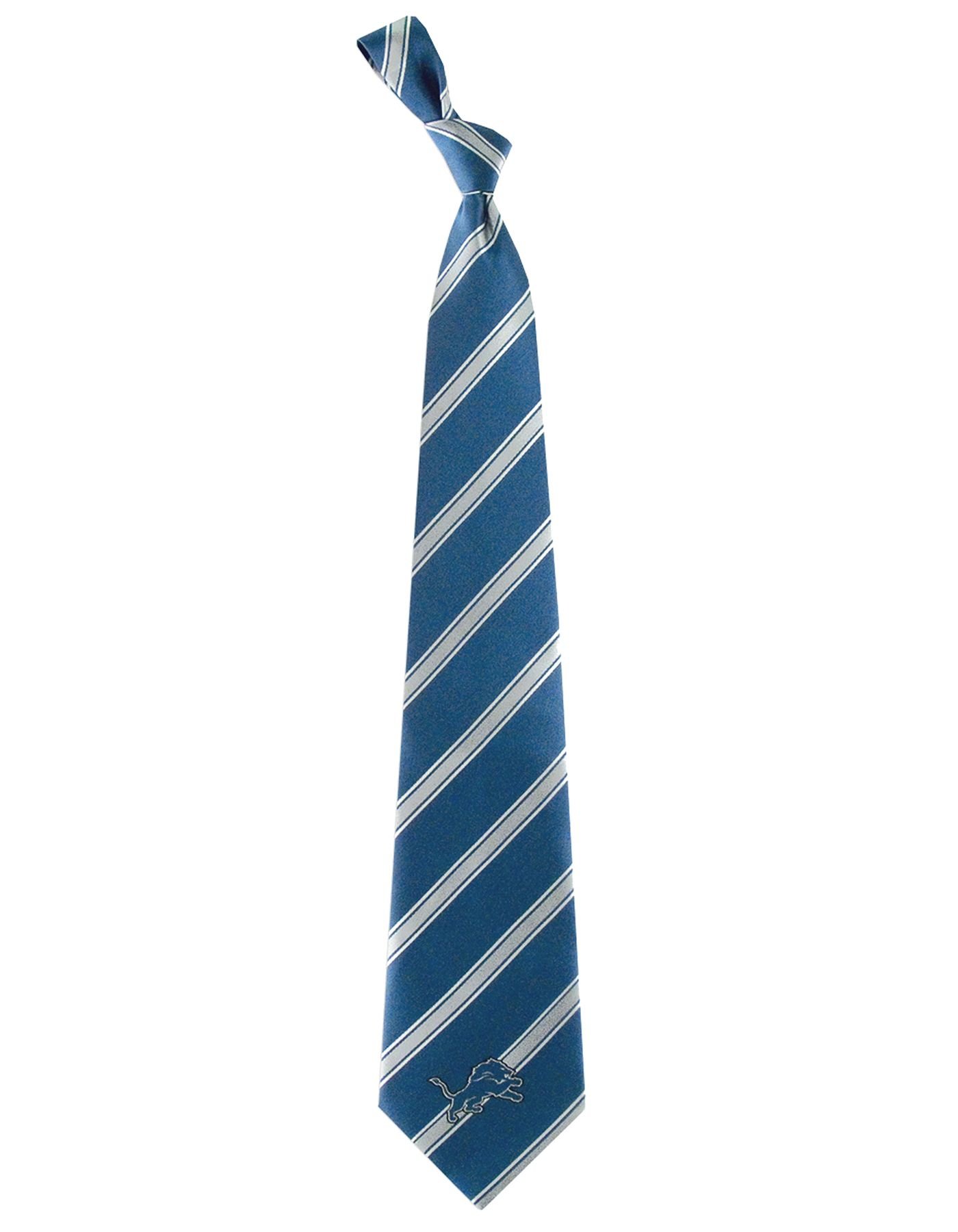 Eagles Wings Detroit Lions Striped Polyester Necktie