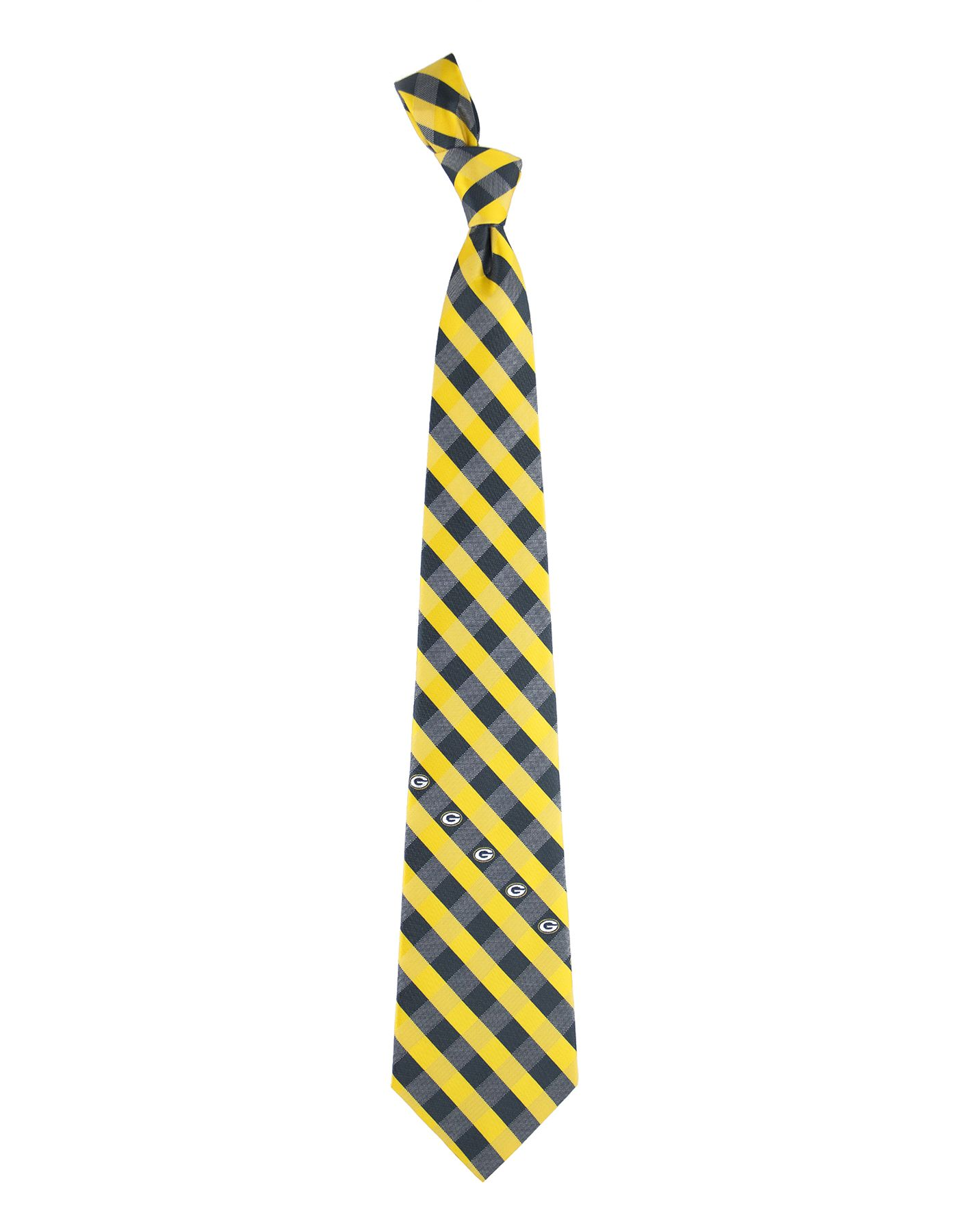 Eagles Wings Green Bay Packers Checkered Necktie