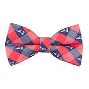 Eagles Wings New England Patriots Checkered Bow Tie