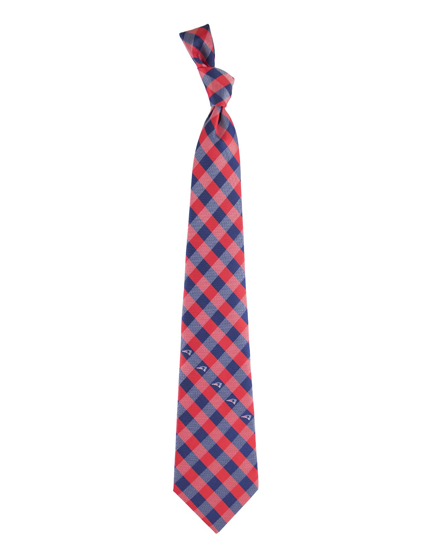Eagles Wings New England Patriots Checkered Necktie