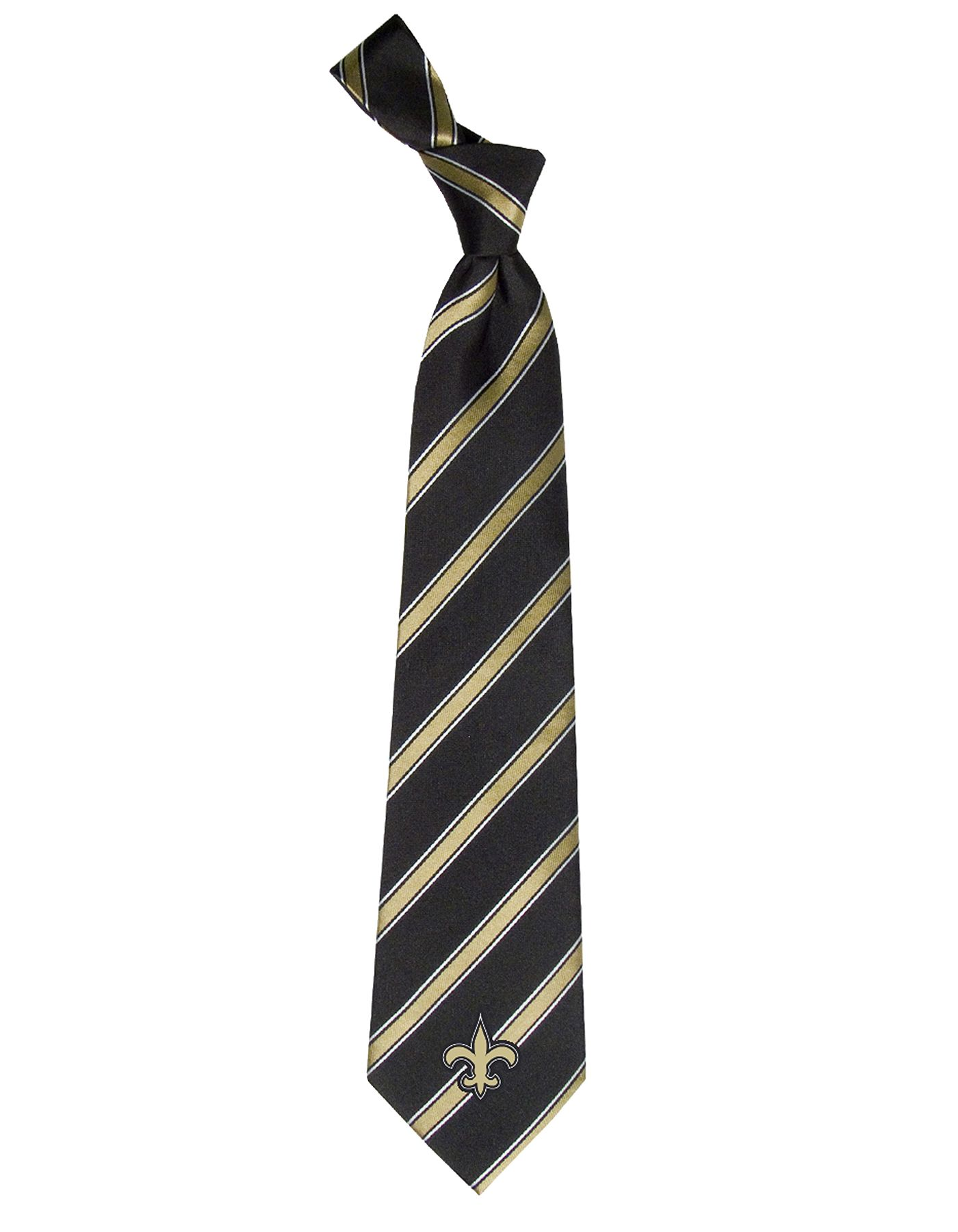 Eagles Wings New Orleans Saints Striped Polyester Necktie