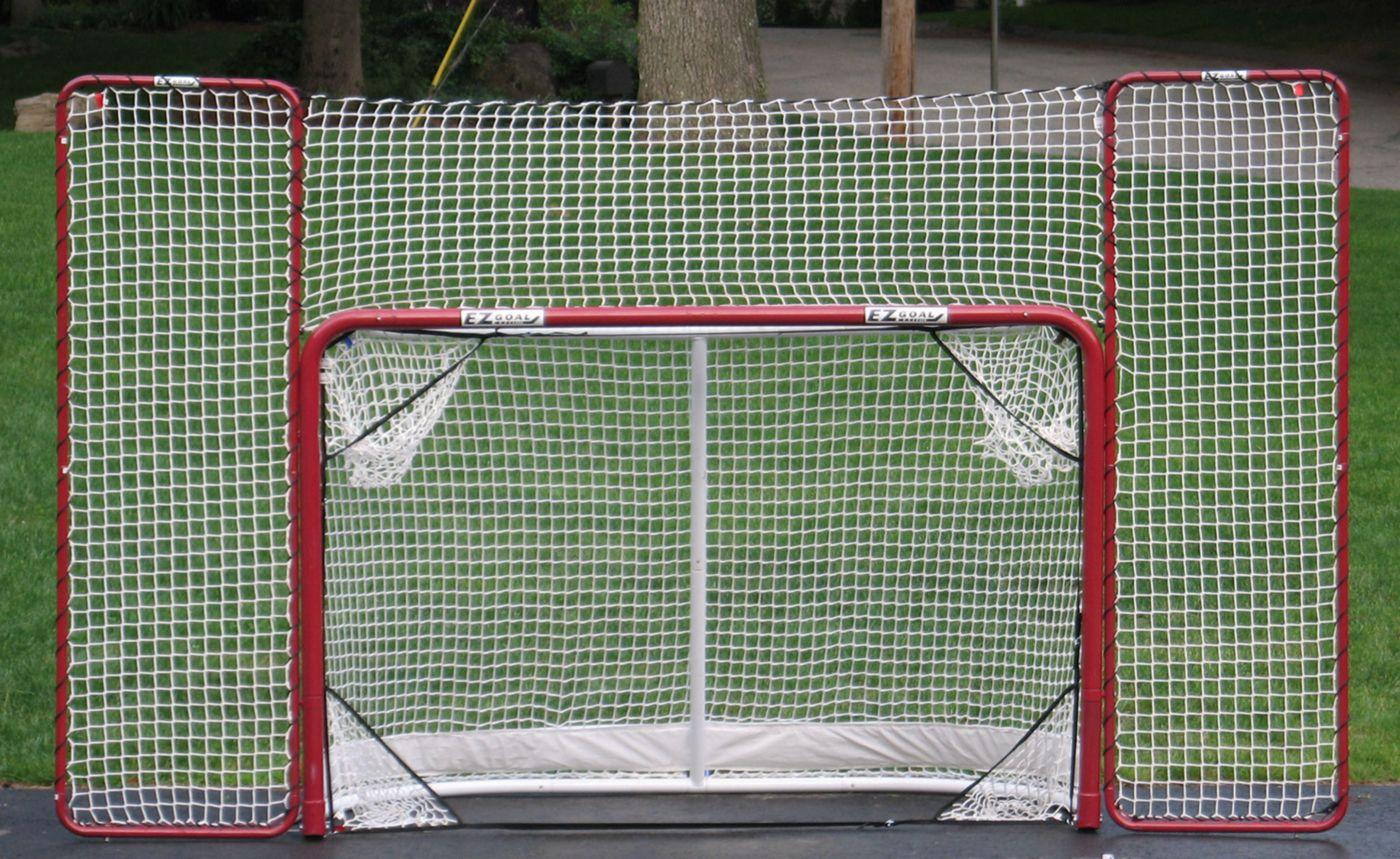 "EZGoal 72"" Metal Street Hockey Goal, Backstop & Target Combo"