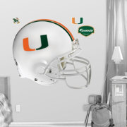 Fathead Miami Hurricanes Football Helmet Wall Graphic