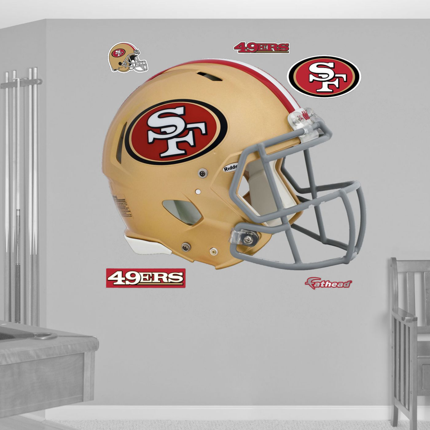 Fathead San Francisco 49ers Helmet Logo Wall Graphic