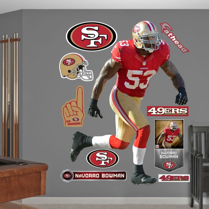 best website a5a99 51e07 Fathead NaVorro Bowman #53 San Francisco 49ers Real Big Wall Graphic