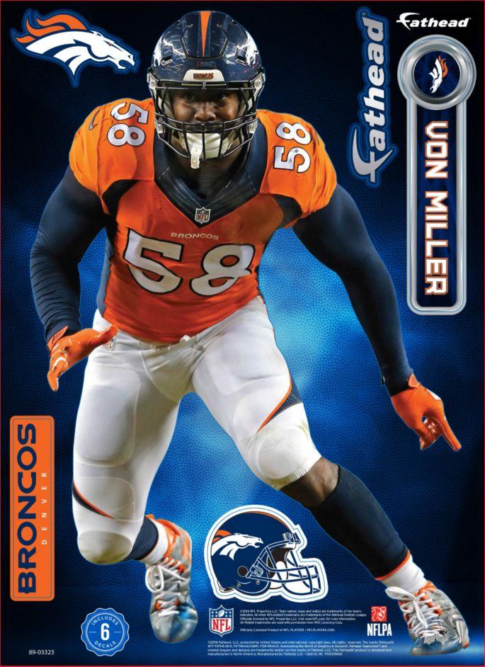 finest selection 7364f 41ef0 Fathead Denver Broncos Von Miller Teammate Player Wall Decal