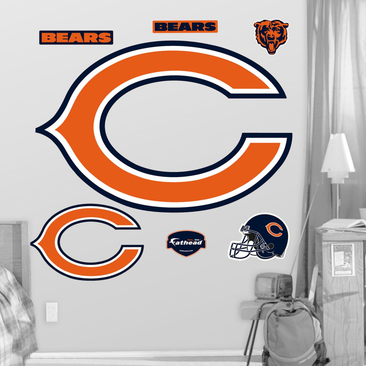 "Fathead Chicago Bears ""C"" Logo Wall Graphic"