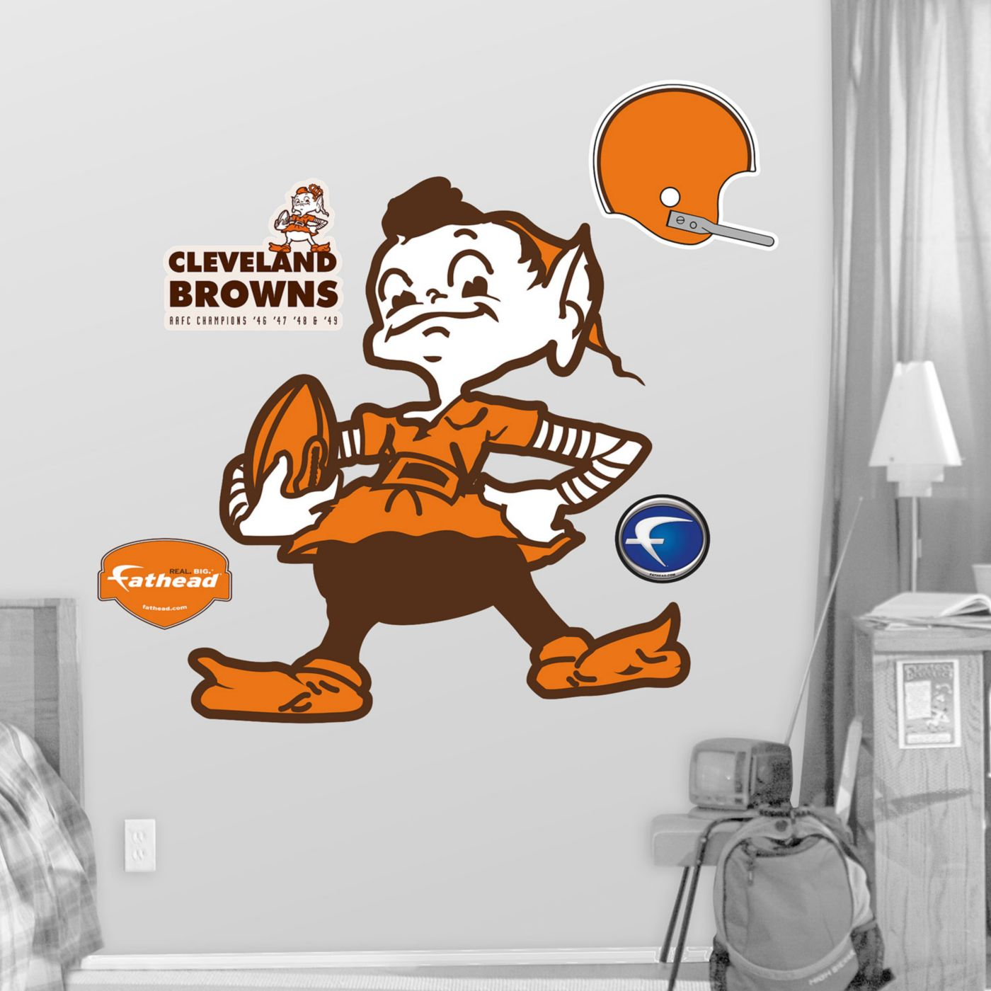 Fathead Cleveland Browns Classic Logo Wall Graphic