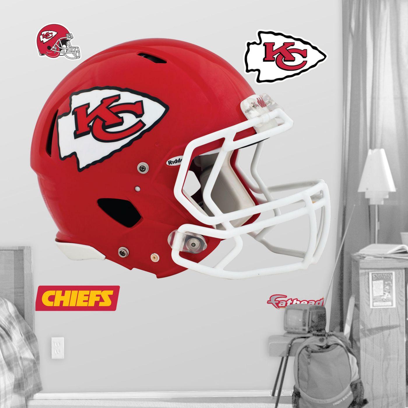 Fathead Kansas City Chiefs Helmet Logo Wall Graphic