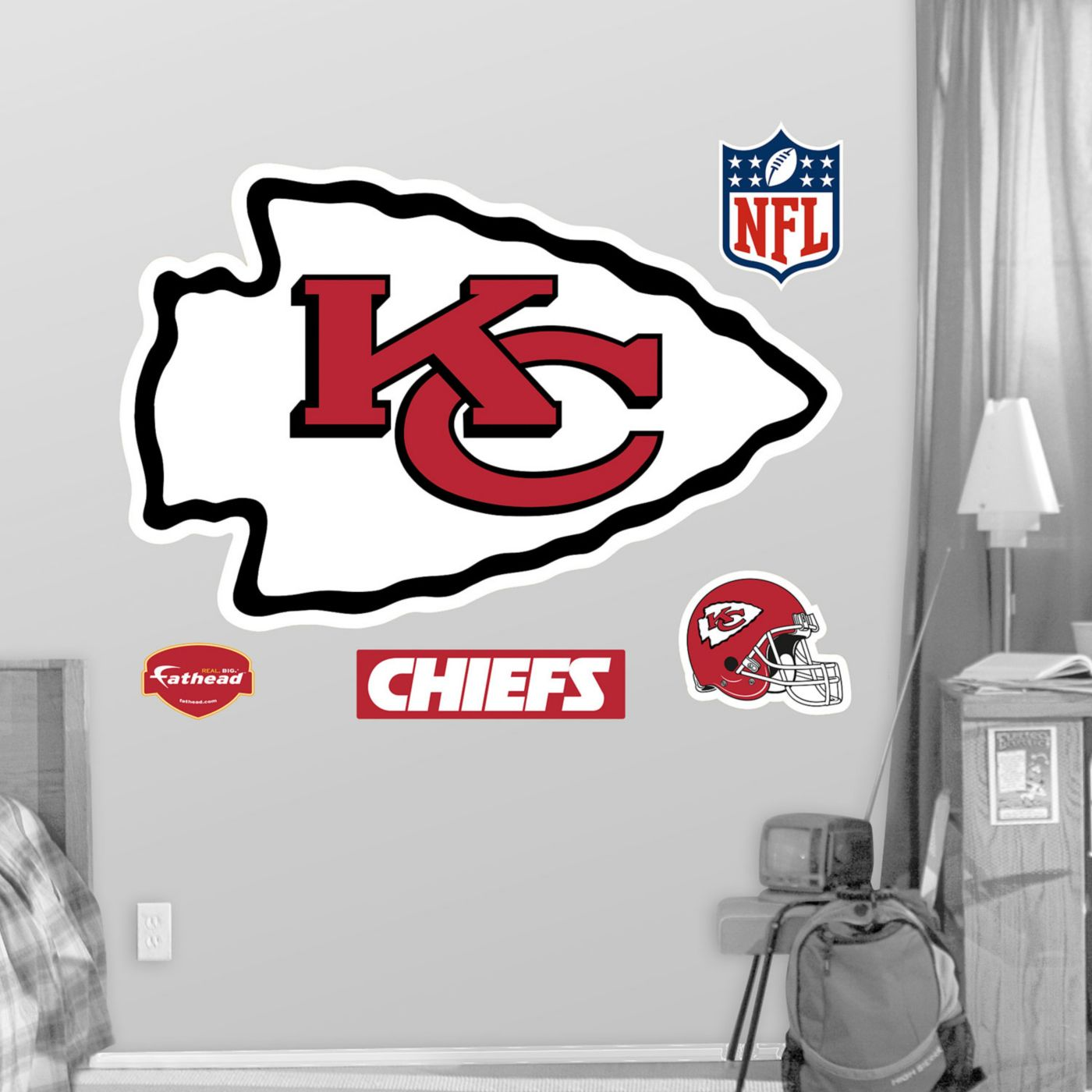 Fathead Kansas City Chiefs Logo Wall Graphic
