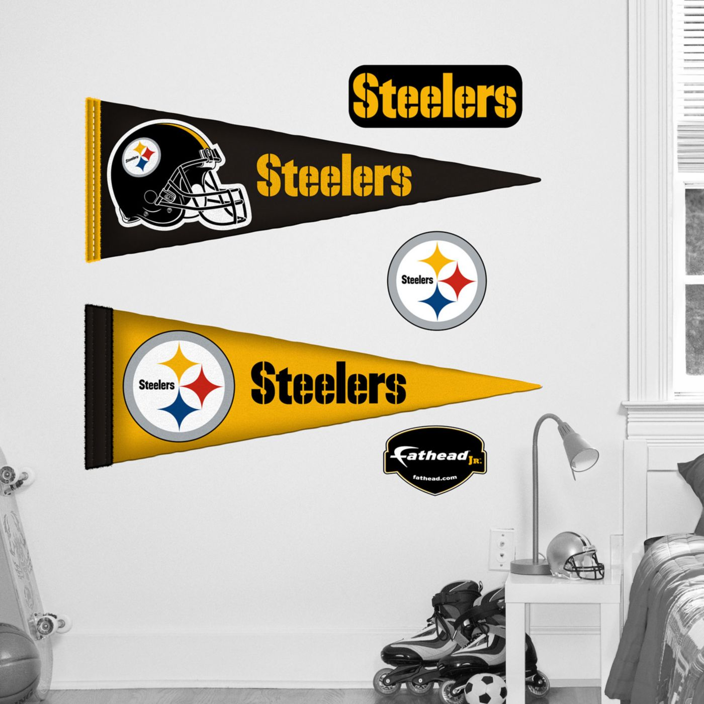 Fathead Jr. Pittsburgh Steelers Pennant Wall Graphic