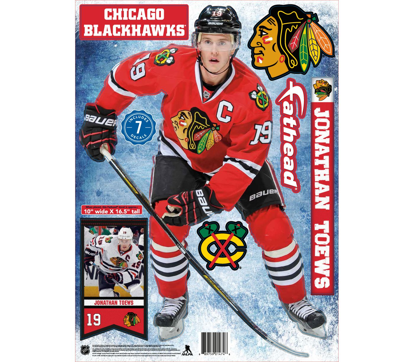 Fathead Chicago Blackhawks Jonathan Toews Player Wall Decal
