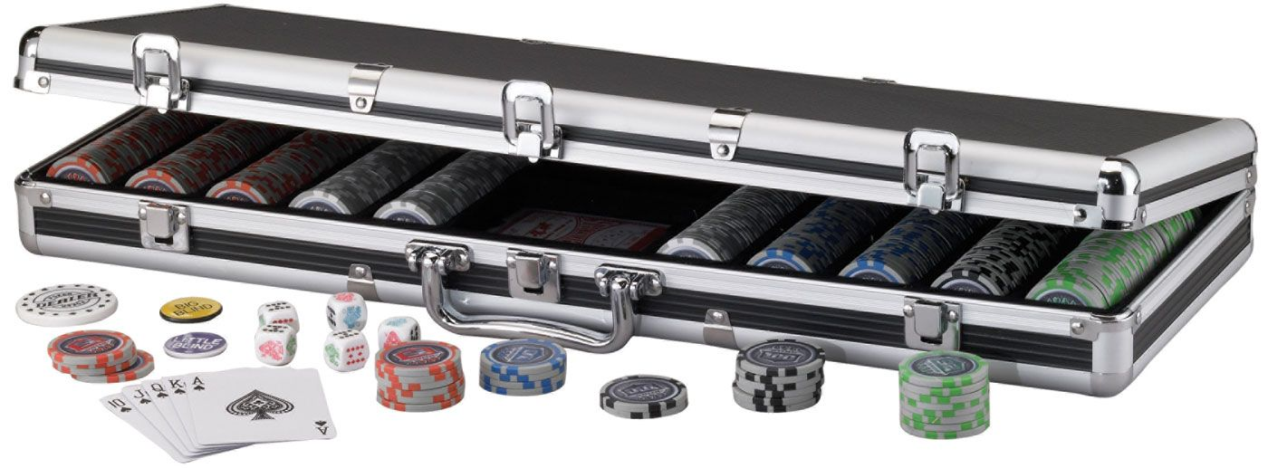 Fat Cat 500 Bling Poker Chip Set and Case