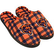 FOCO Chicago Bears Flannel Cup Sole Slippers