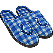 FOCO Indianapolis Colts Flannel Cup Sole Slippers