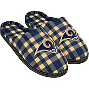 FOCO Los Angeles Rams Flannel Cup Sole Slippers