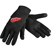 Forever Collectibles Detroit Red Wings Text Gloves